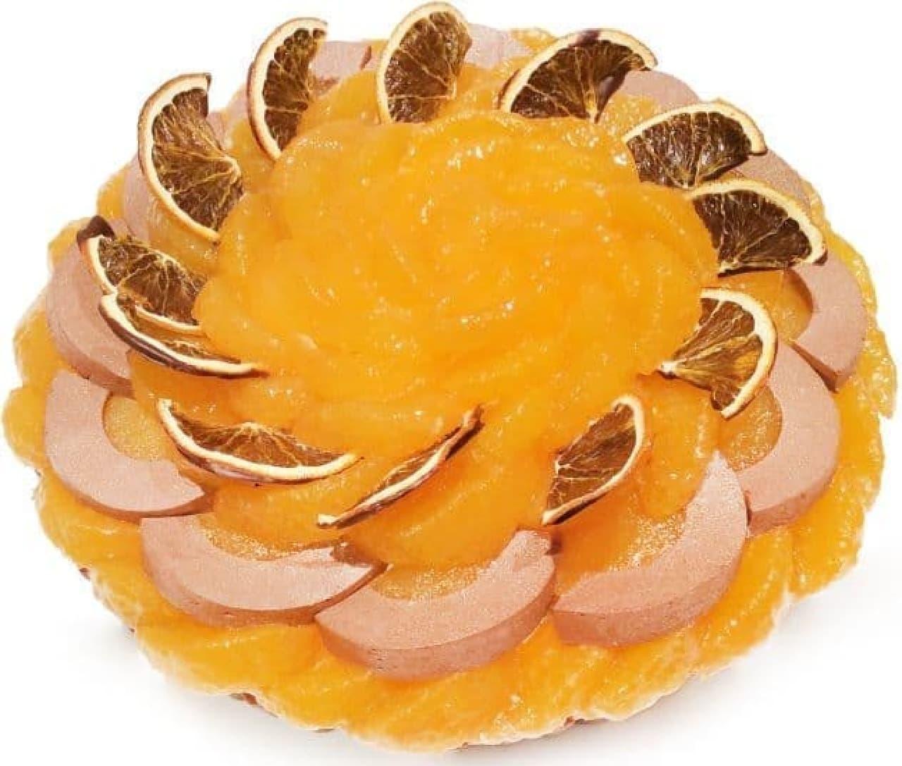 カフェコムサ「愛媛県 宇和島 西谷農園産「清見オレンジ」とチョコレートムースのケーキ」