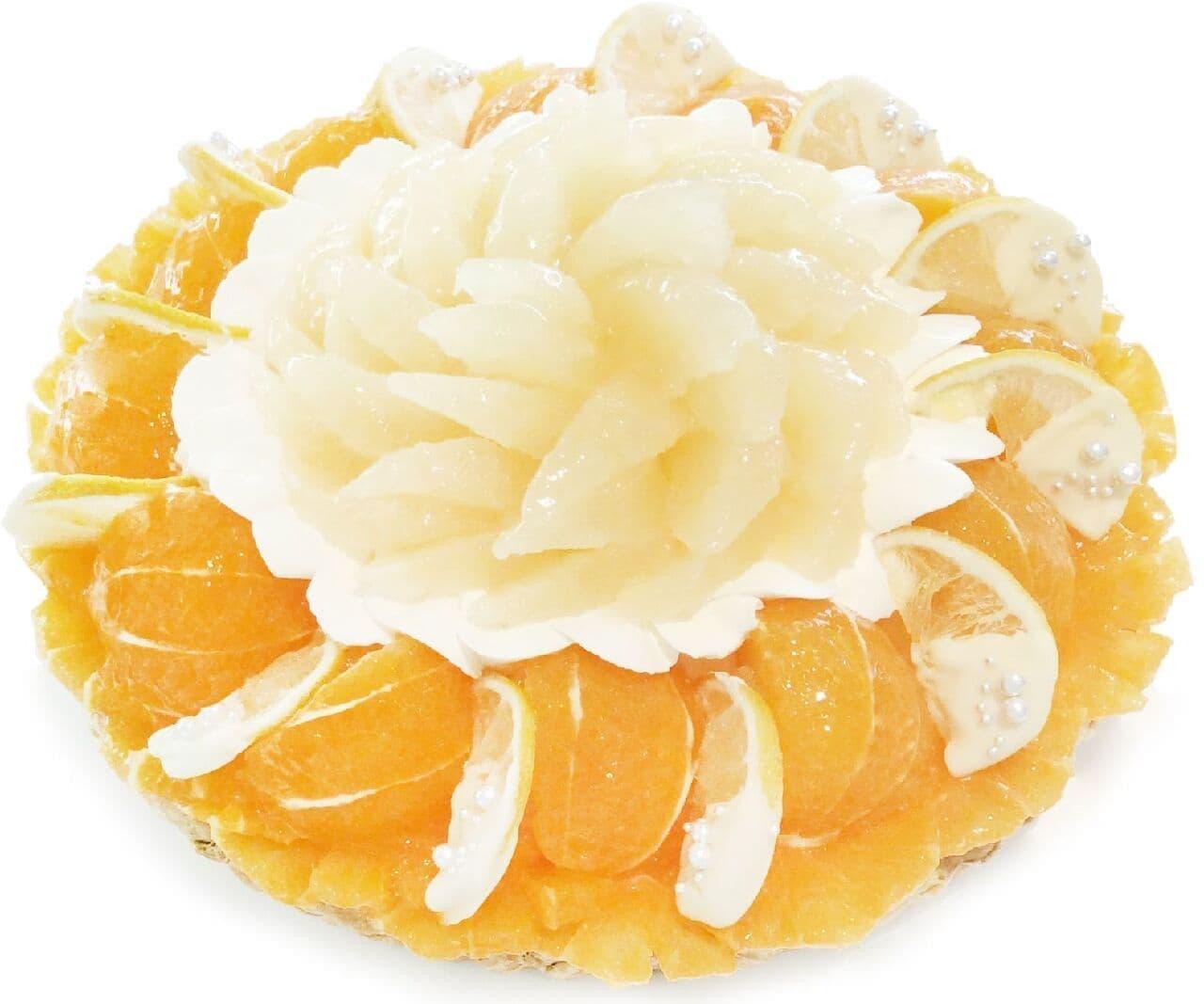 カフェコムサ「愛媛県 宇和島 西谷農園産「清見オレンジ」と宇和ゴールドのケーキ」