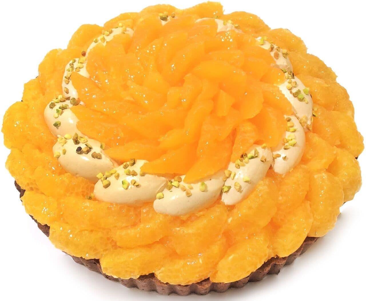 カフェコムサ「熊本県産「デコポン」と伊予柑のプラリネクリームのケーキ」