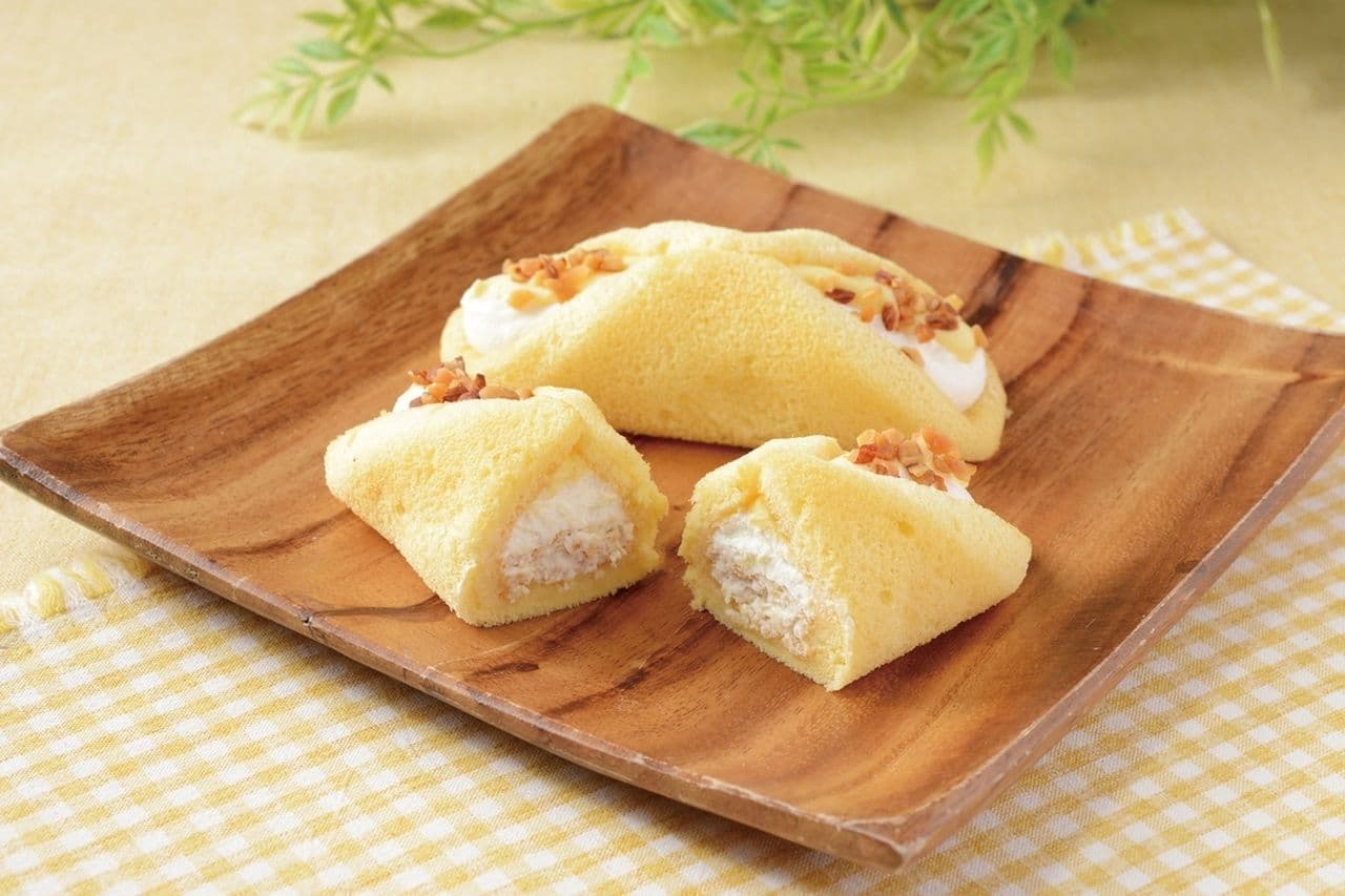 ローソン「クルリン -ザクふわくるりんケーキ(チーズ)-」