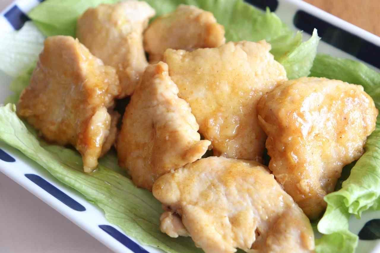 鶏むね肉カレー照り焼き