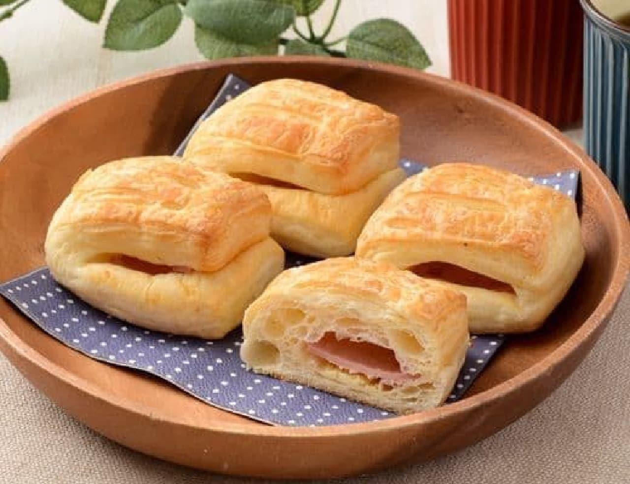 ローソン「塩パンハムチーズ 4個入」