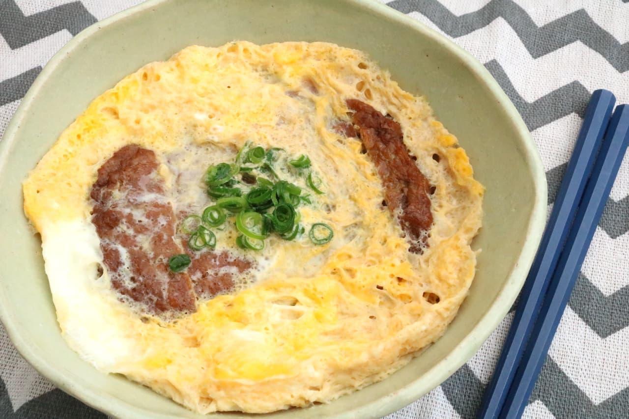 お手軽レシピ「マルシンハンバーグの卵とじ」