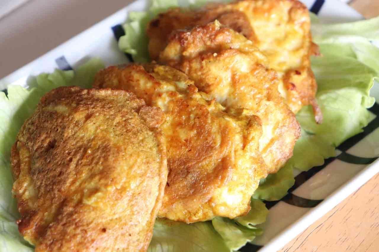 「鶏むねカレーチーズピカタ」レシピ