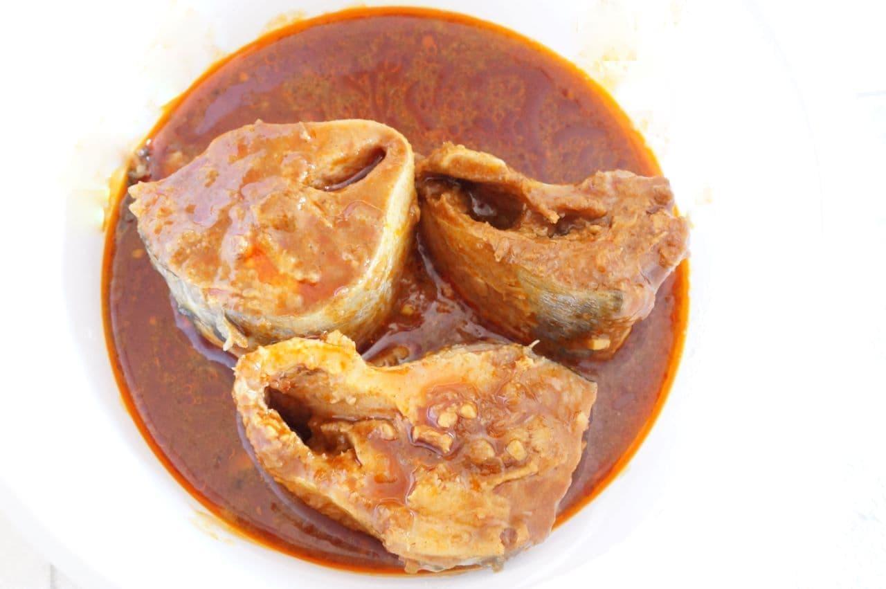 清水食品と中村屋が共同開発した缶詰「サバカリー本格麻辣仕立て」