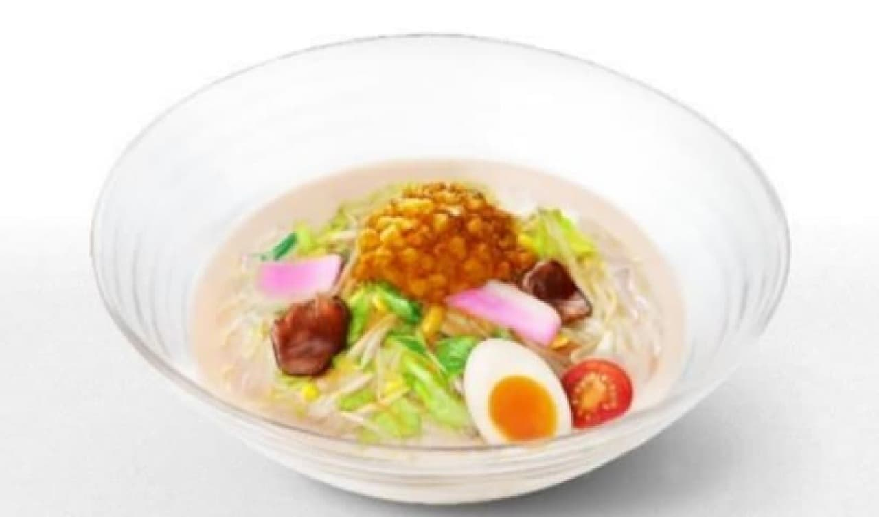 リンガーハット「もちもち太麺と国産シャキシャキ野菜にコクうまスープが絡む冷やしちゃんぽん」