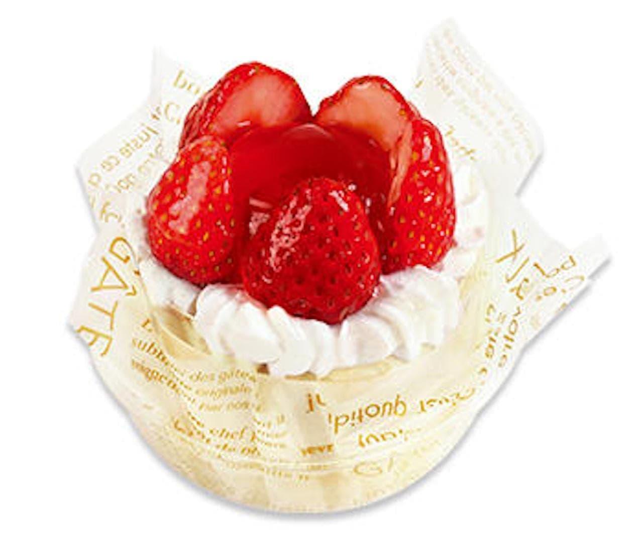 不二家「苺のフラワーケーキ」