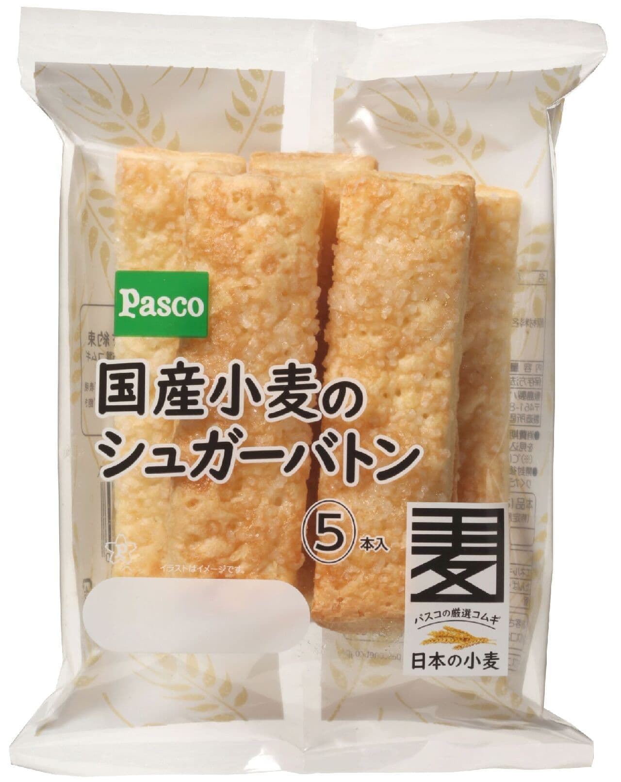 パスコ「国産小麦のシュガーバトン5本入」