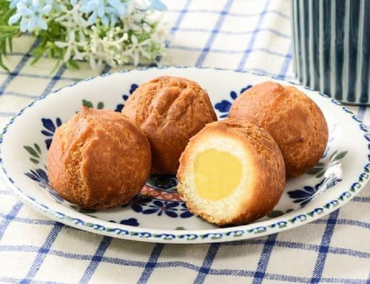 ローソン「ボールケーキドーナツ カスタード 4個入」