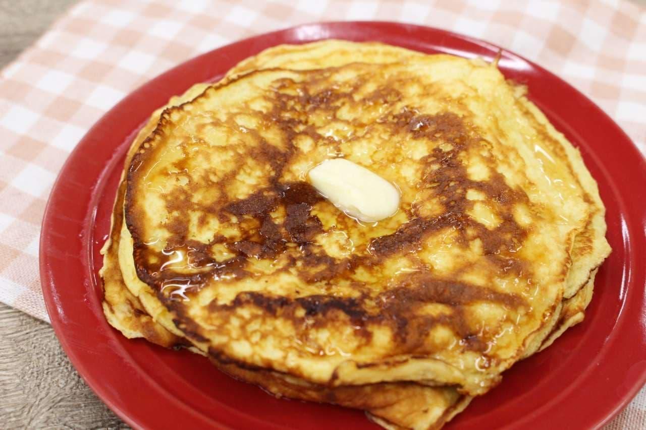 「プロテインパンケーキ」のレシピ