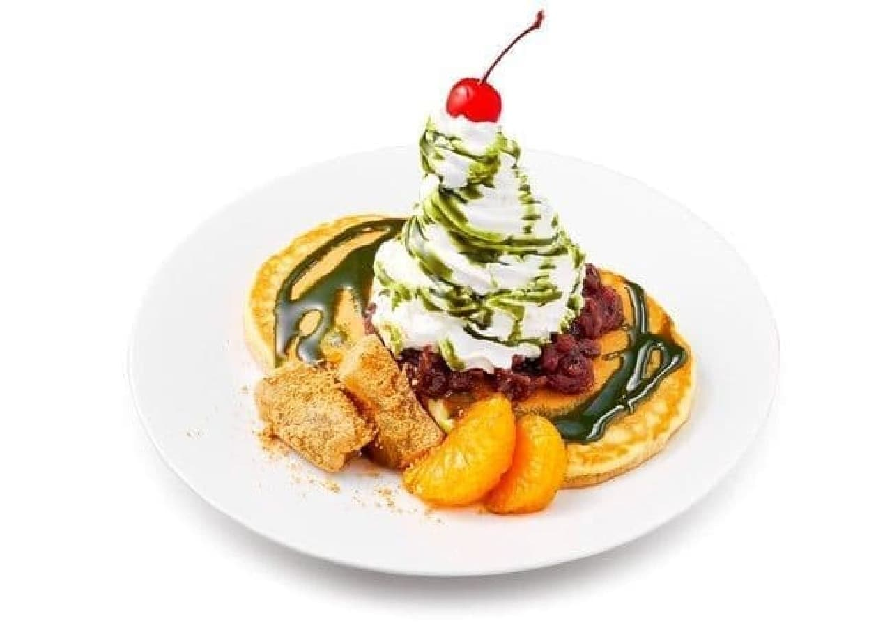 イケア「抹茶スイーツ フェア」の抹茶タワーパンケーキ