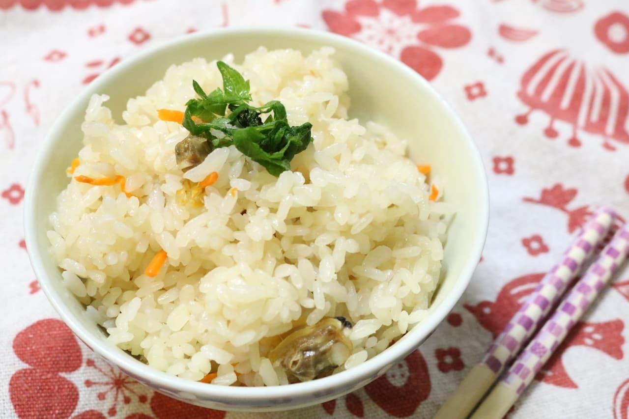 レシピ「アサリの炊き込みご飯」
