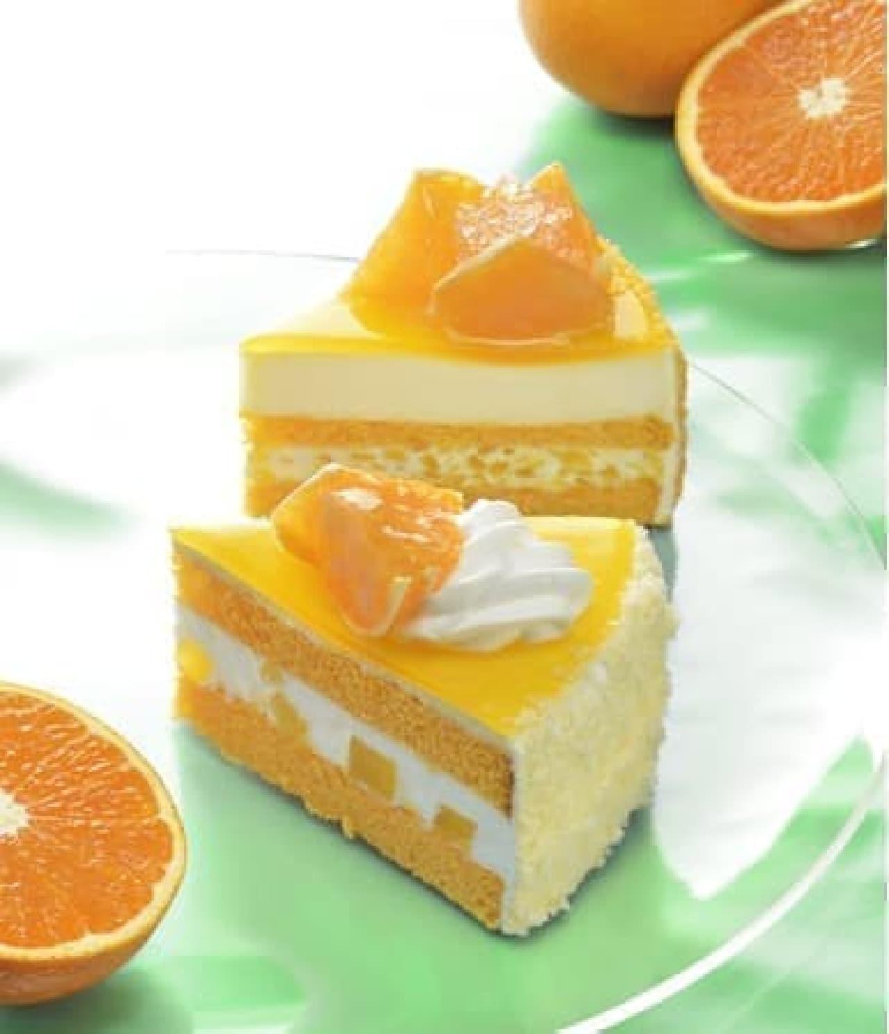 銀座コージーコーナー「清見オレンジショート」「清見オレンジのレアチーズ」