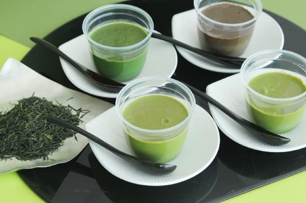 D-matcha「新茶の濃厚宇治茶プリン食べ比べセット2021」