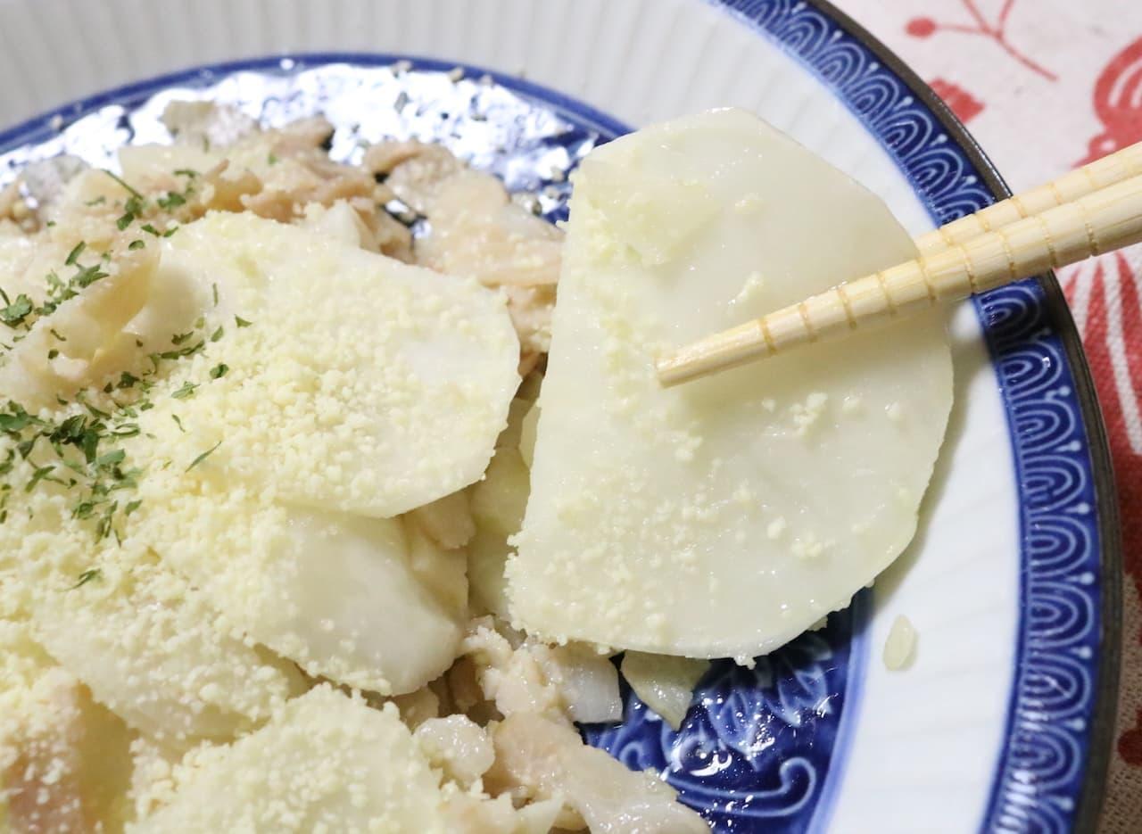 簡単レシピ「かぶのチーズベーコン炒め」