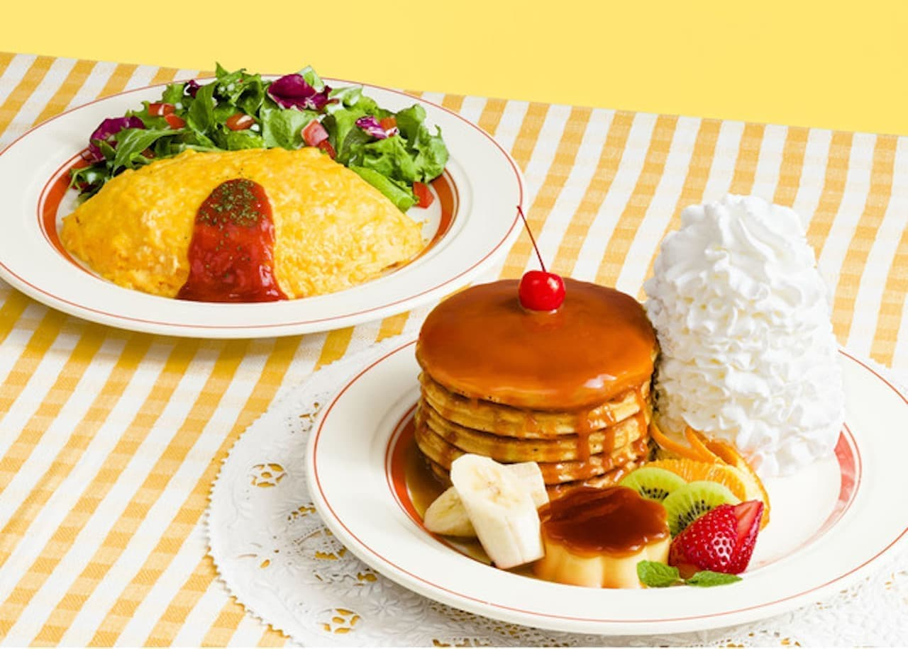 Eggs 'n Things「なつかしのパンケーキ・ア・ラ・モード」「ハワイアンオムライス」