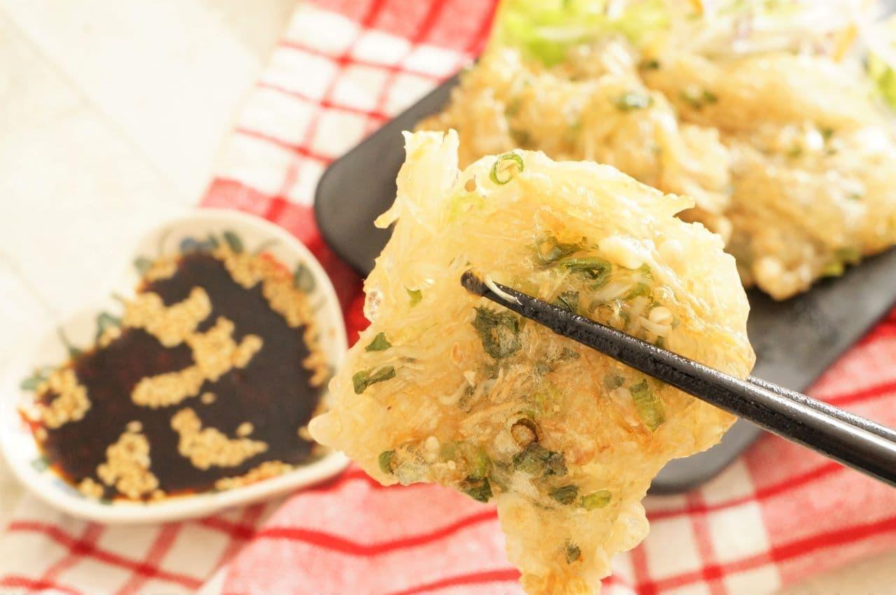 えのき&片栗粉で作る「えのきチヂミ風」