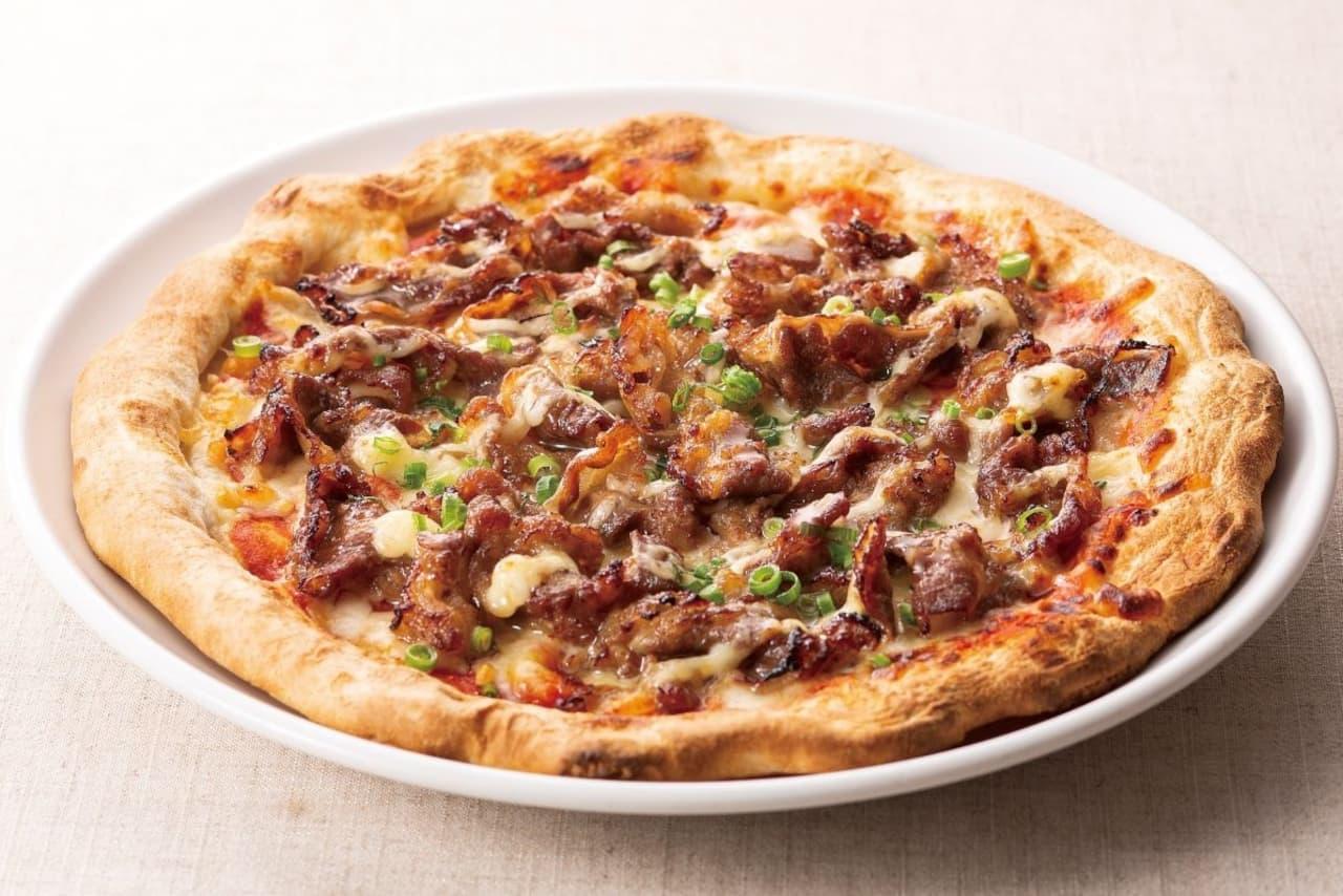 ガスト「牛カルビ焼きピザ」