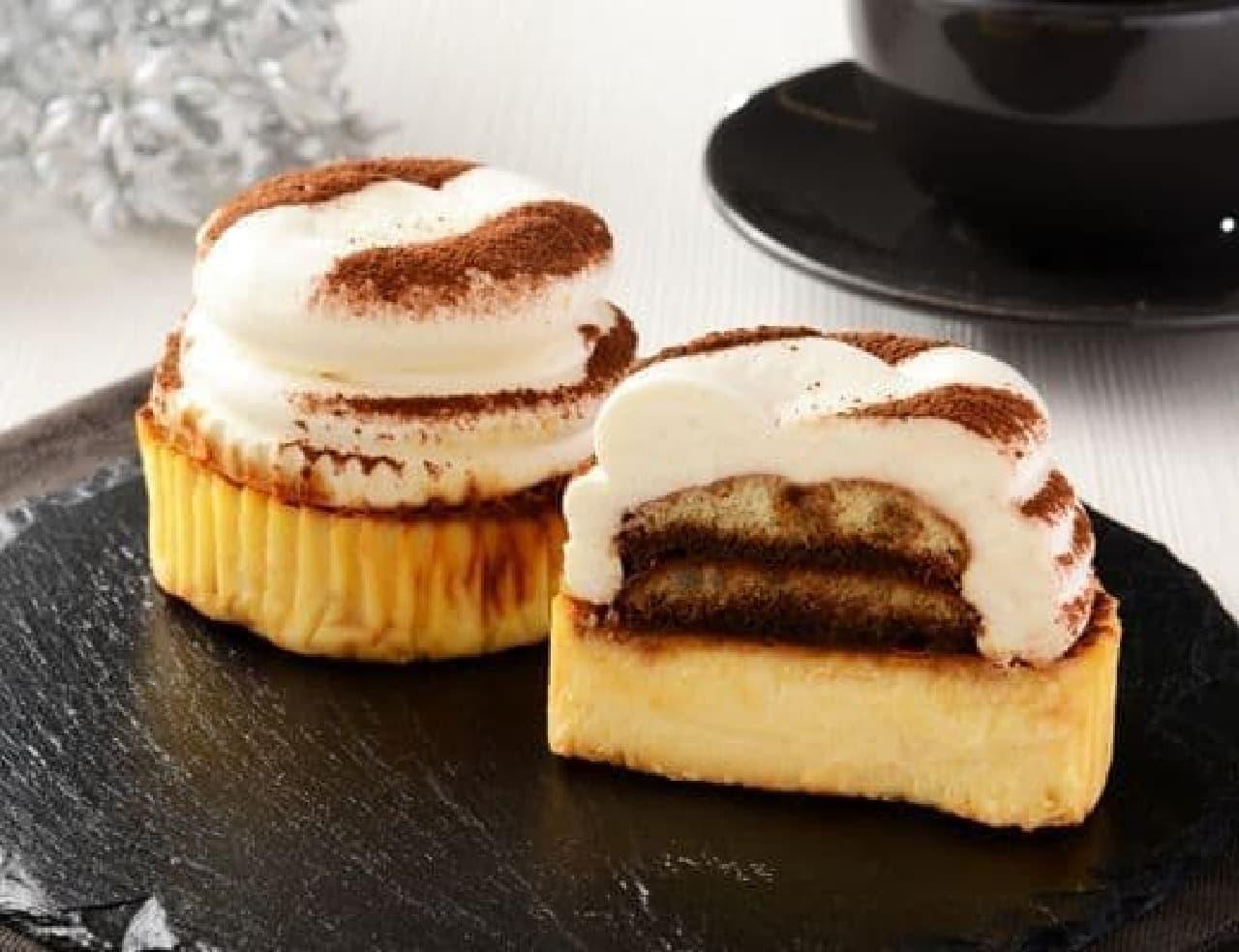 ローソン「ティラミスバスチー -バスク風チーズケーキ-」