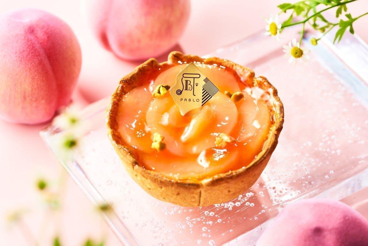 "Freshly baked cheese tart specialty store PABLO ""white peach and yogurt cheese tart small size"""