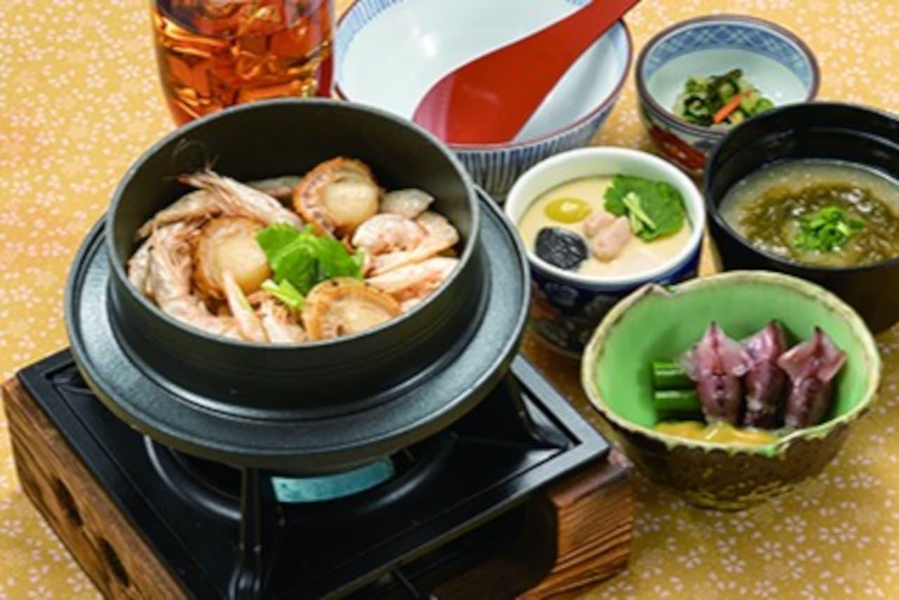 藍屋「富富富の白えび炊き立て御飯膳」