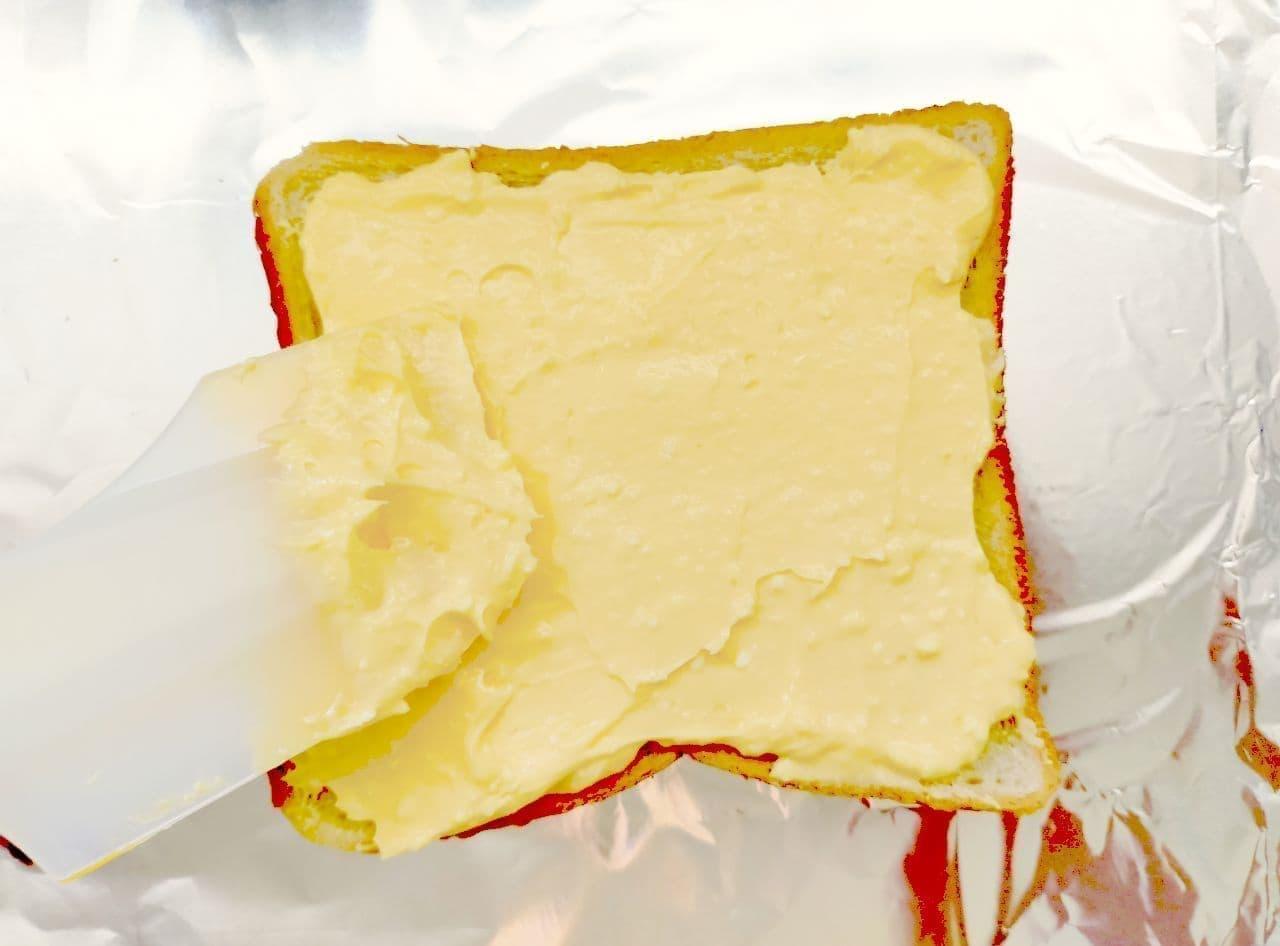 「バスクチーズケーキ風トースト」レシピ