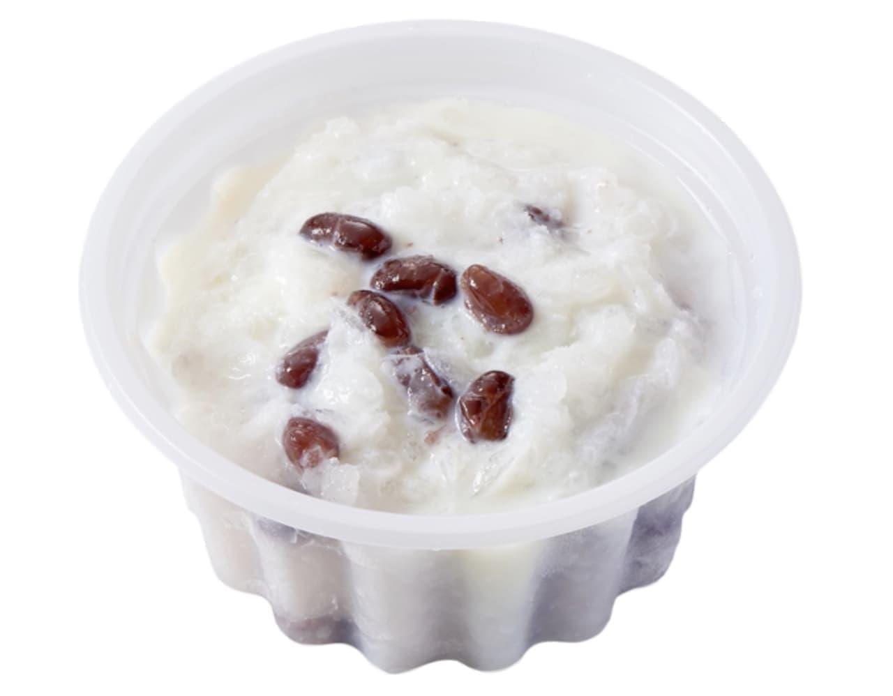 シャトレーゼ「白州名水かき氷 北海道産小豆の甘納豆入り 練乳金時」