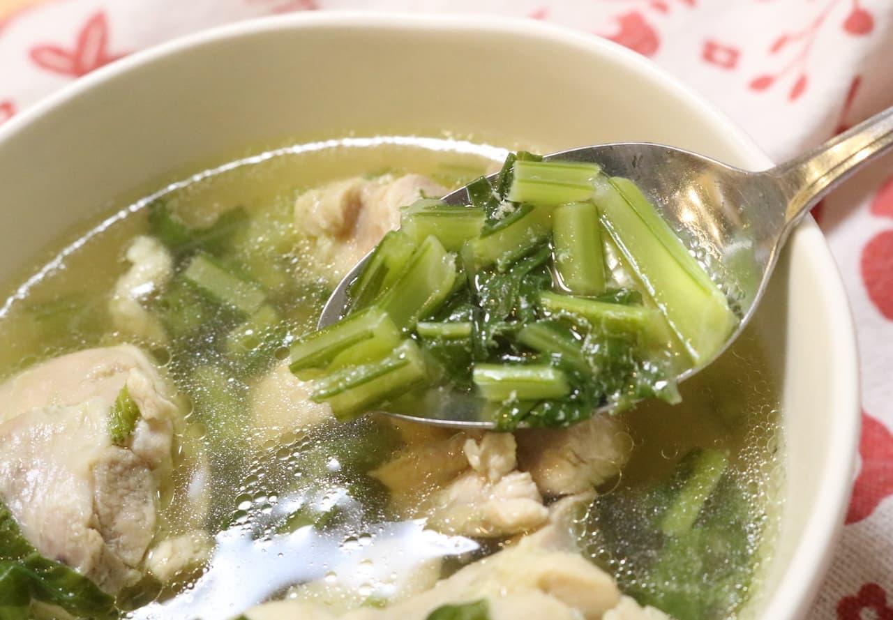 レシピ「鶏肉とカブのスープ」