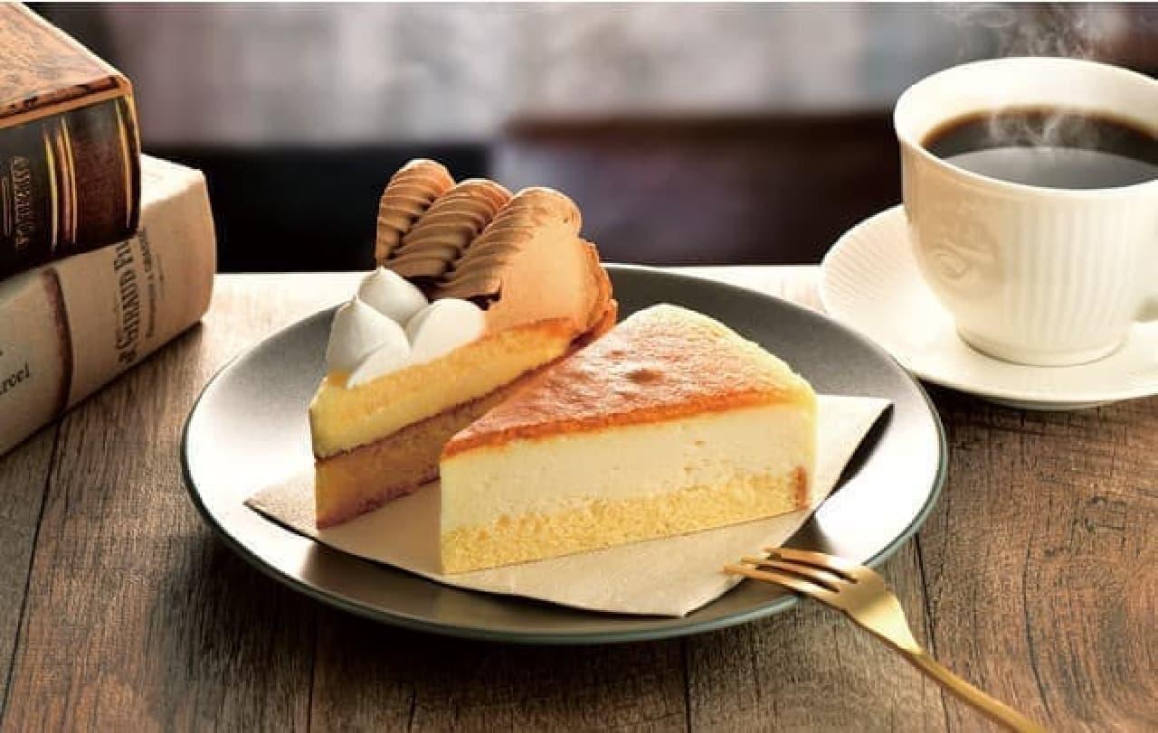 カフェ・ド・クリエ「キャラメルバナナタルト」「レモンスフレチーズケーキ」