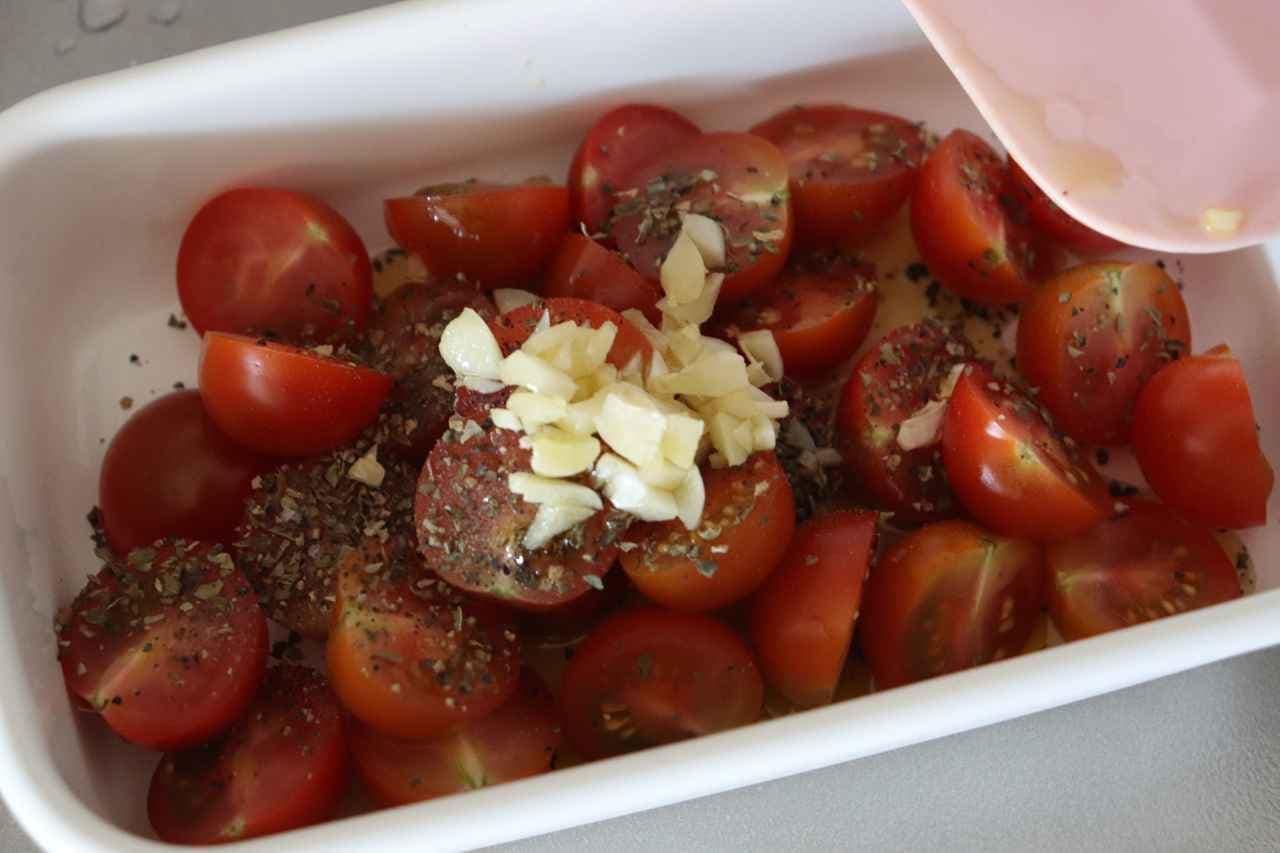 ミニトマトのガーリックオイル和え