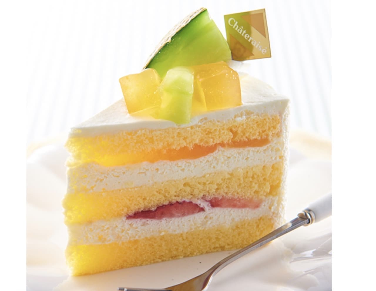 シャトレーゼ「メロンのプレミアム純生クリームショートケーキ」