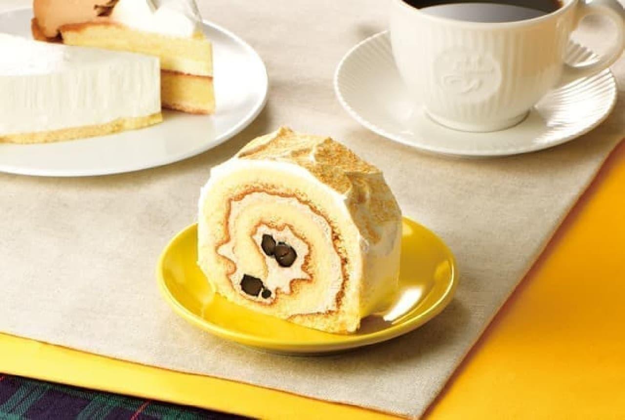 カフェ・ド・クリエ「和風ロールケーキ~きなこ&黒豆~」