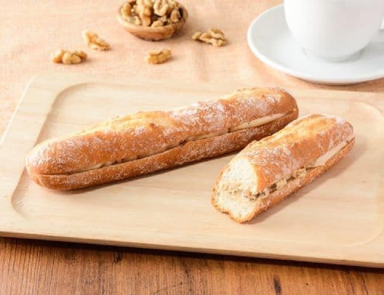 ローソン「マチノパン くるみバターのフランスパン」