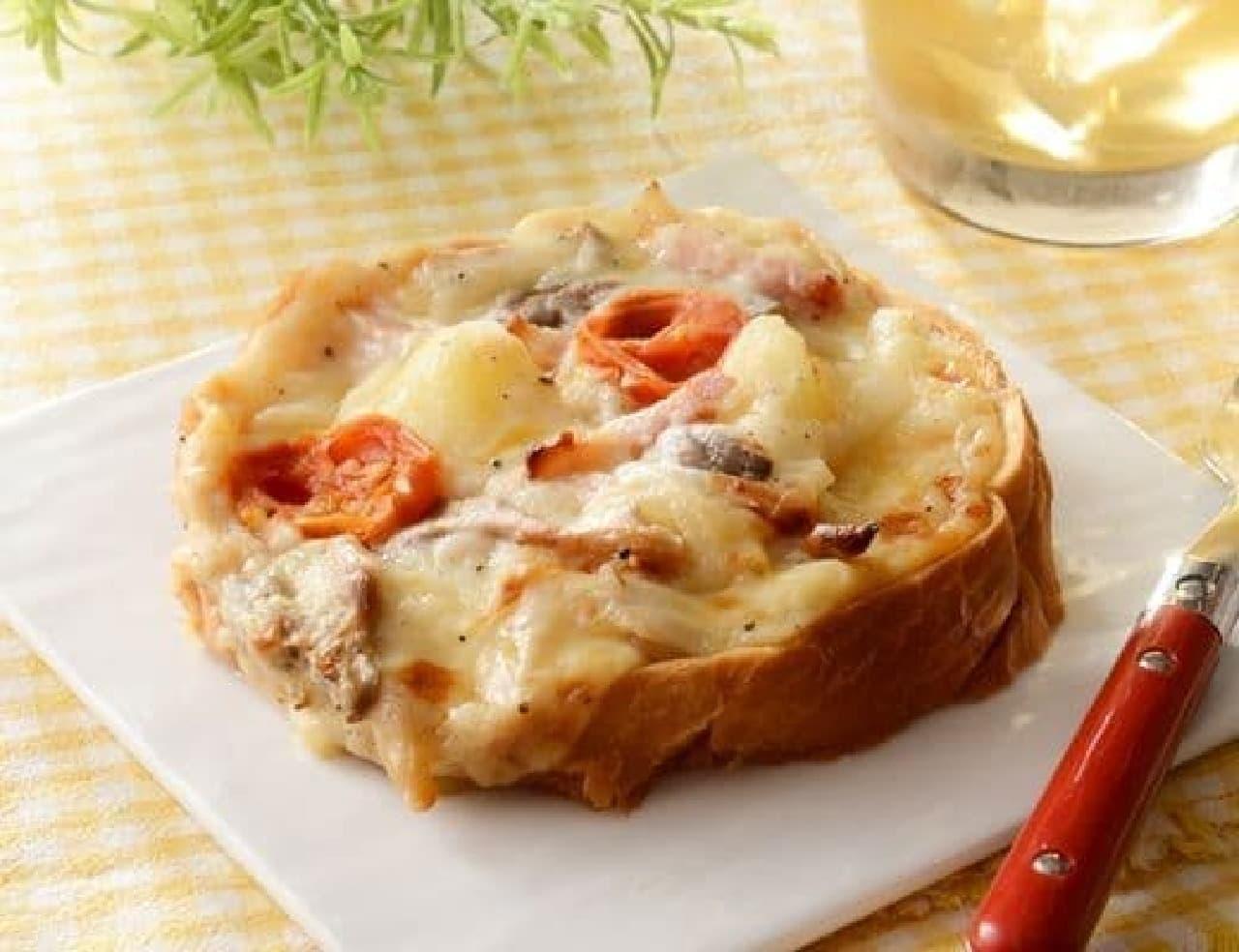 ローソン「6種チーズとごろごろ野菜のオープンサンド」