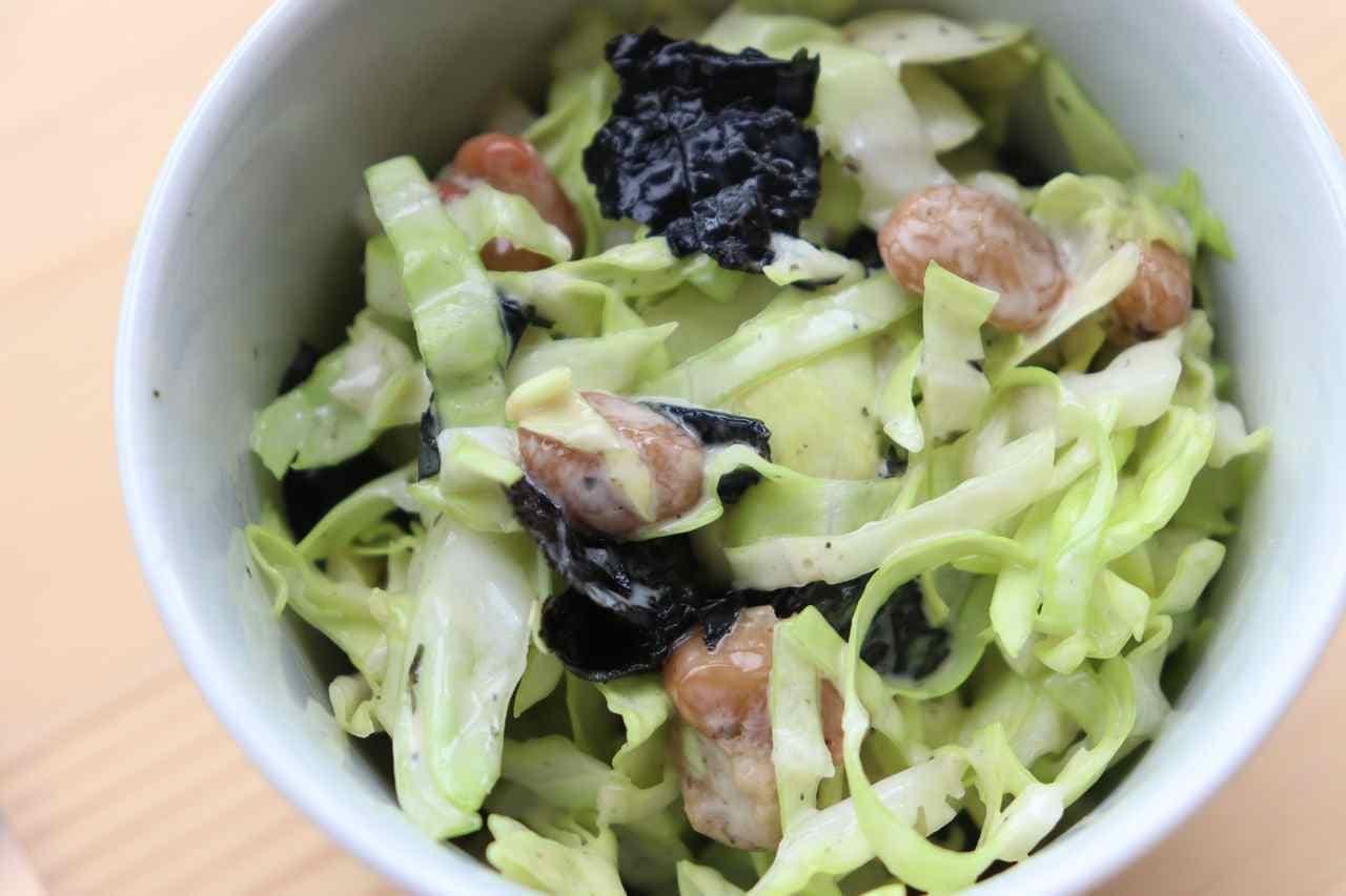 「キャベツ納豆サラダ」レシピ