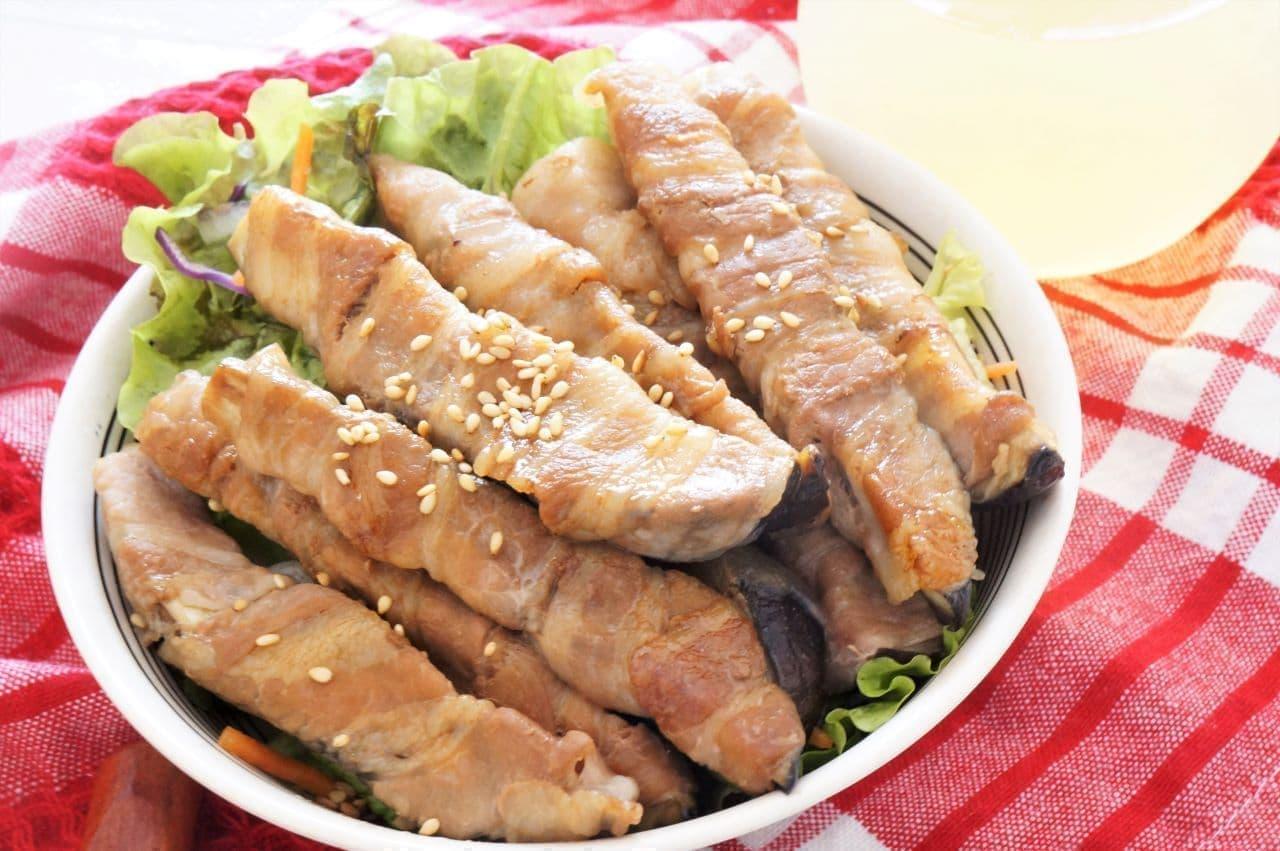 「なすの豚肉巻き」の簡単レシピ