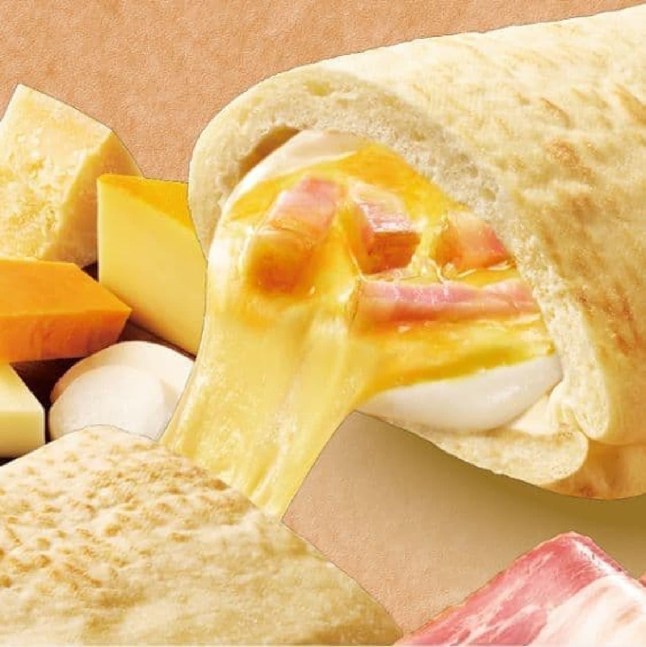 ファミリーマート「ピザサンド 5種のチーズ&ベーコン」