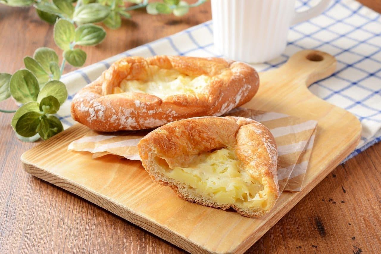 ローソン「もち麦のチーズフランスパン」
