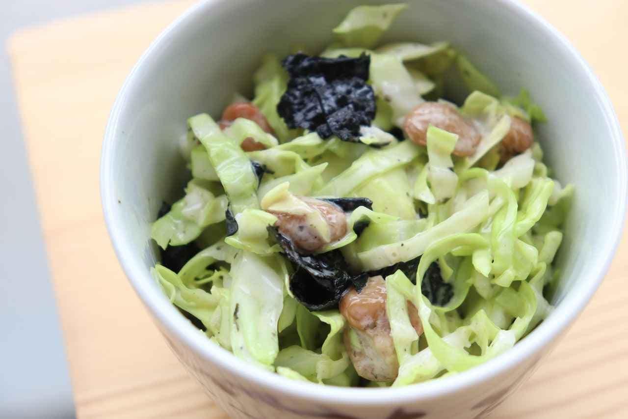 レシピ「キャベツ納豆サラダ」
