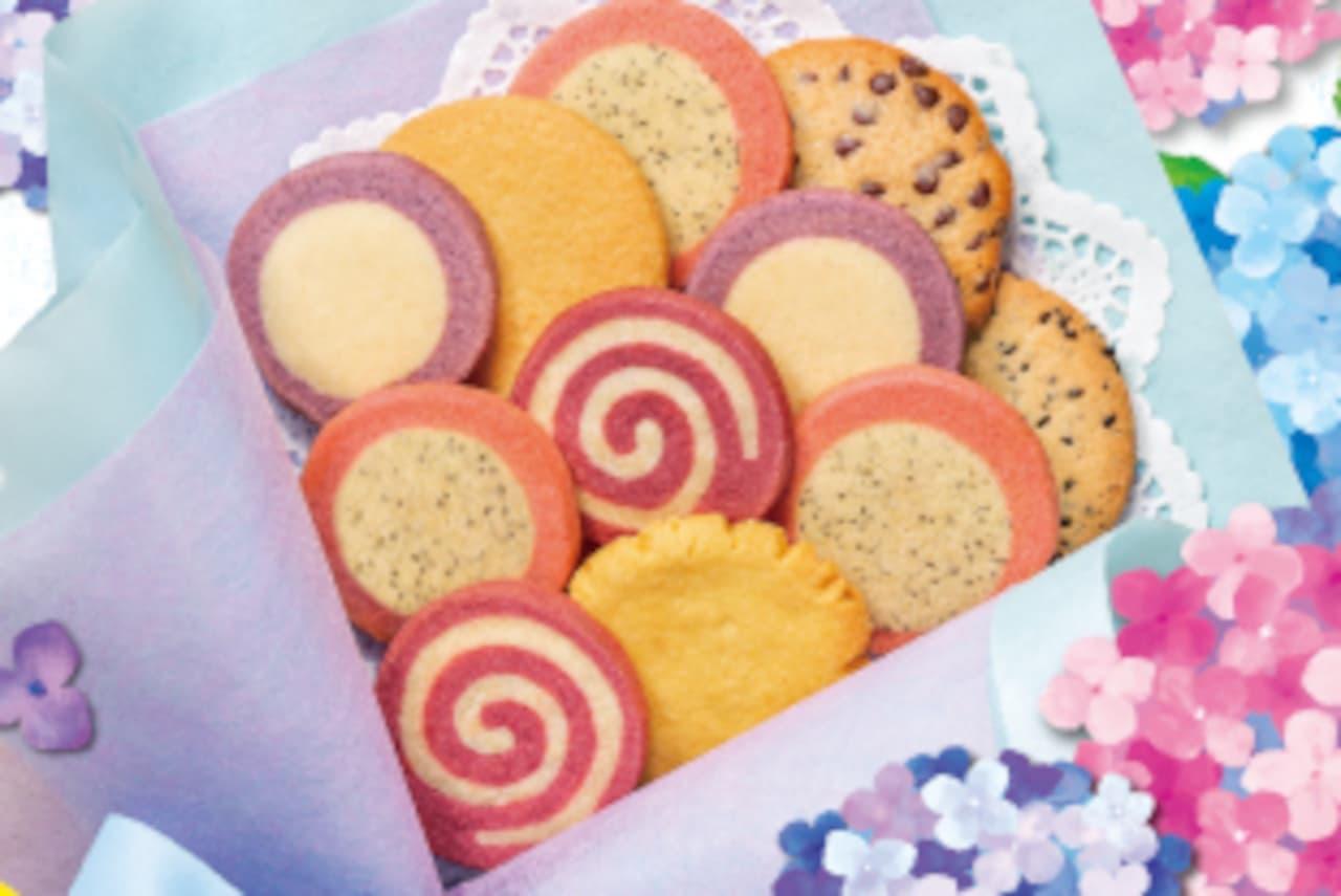 ステラおばさんのクッキー「あじさいギフト」