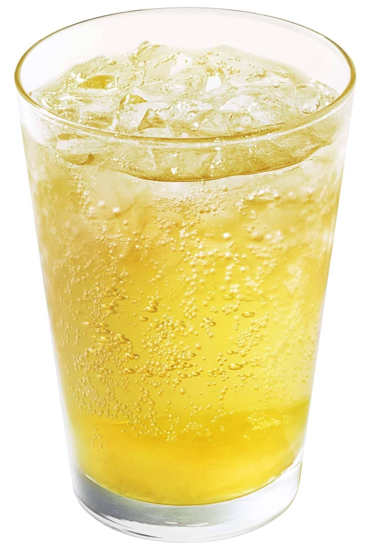 モスバーガー「甘夏 ジンジャーエール <熊本県産甘夏果汁0.5%使用>」
