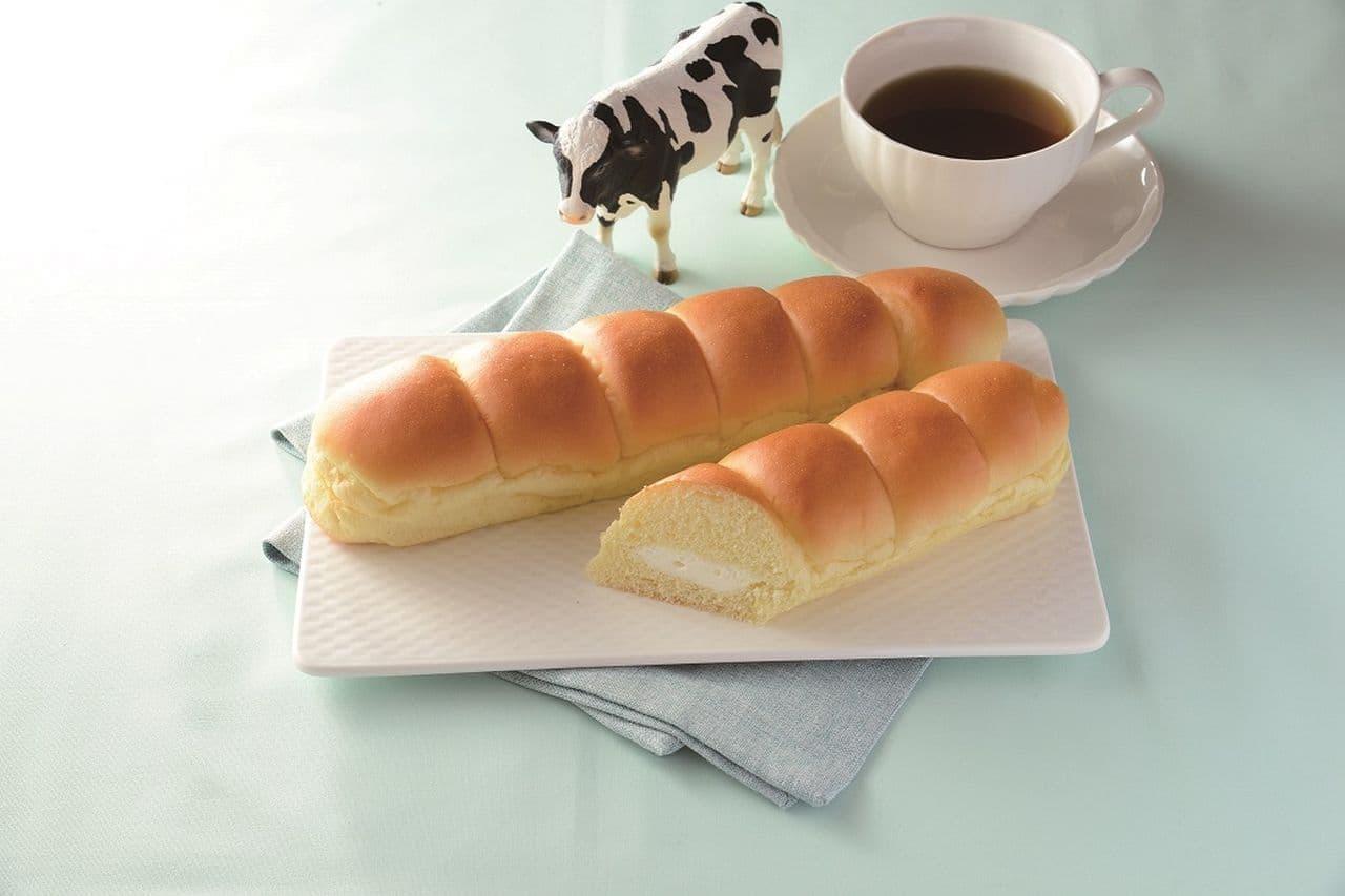 ローソン「LAWSON BAKERY×生クリーム専門店Milk MILKカスタードのちぎりパン」