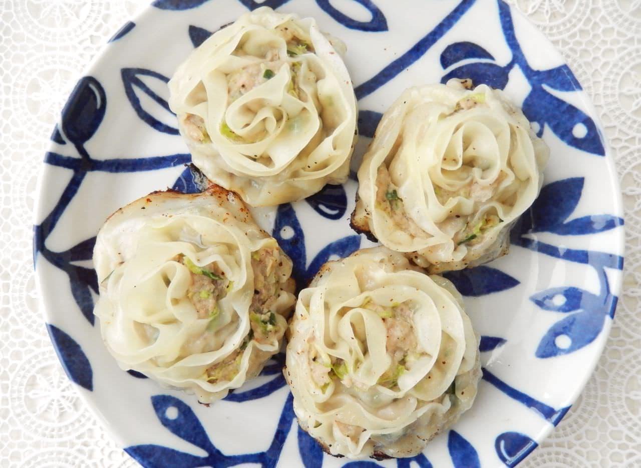 レシピ「バラ餃子」