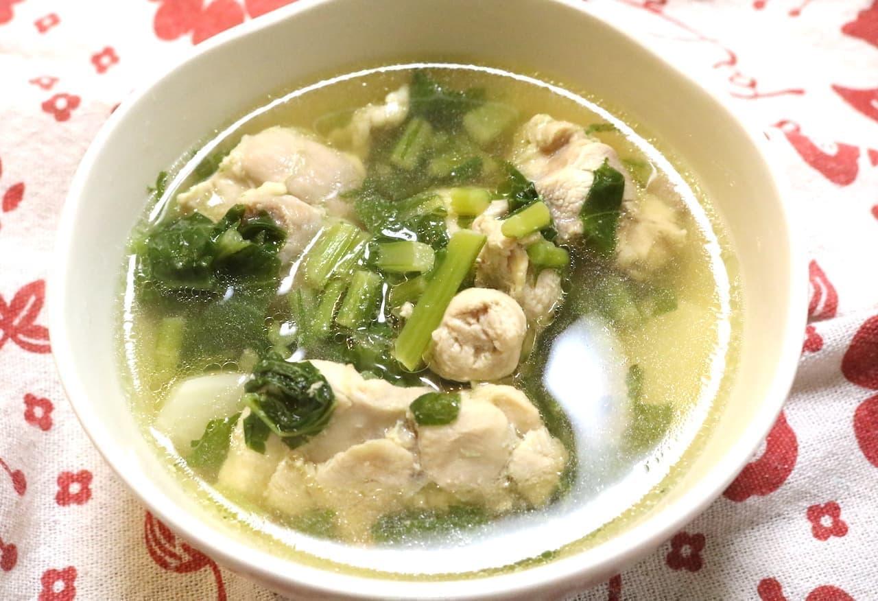 鶏肉とカブのスープ」の簡単レシピ