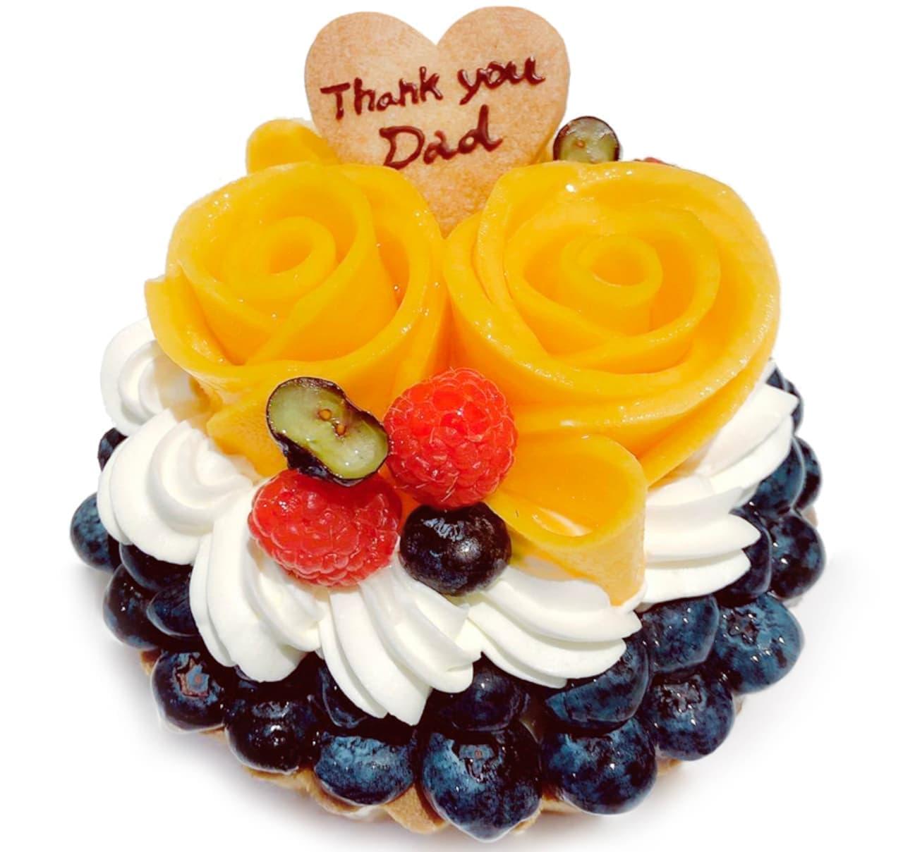 カフェコムサ「マンゴーローズとメロンのケーキ」「父の日 手作りケーキキット」