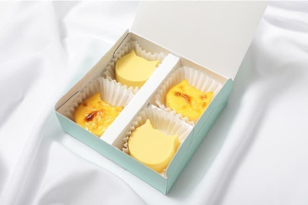 ねこねこチーズケーキ「にゃんチー 4個入(プレーン&マンゴー)」