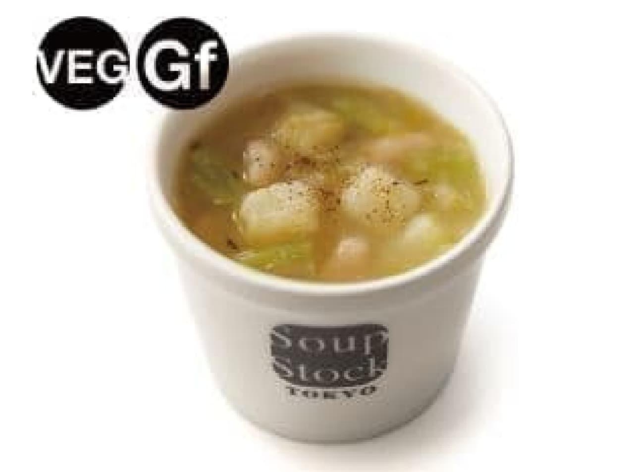 スープストックトーキョー「ポロ葱と白いんげん豆のミネストローネ」