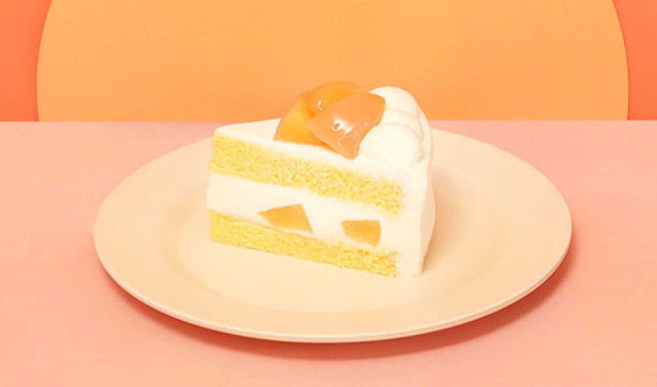 パステル「白桃のショートケーキ」