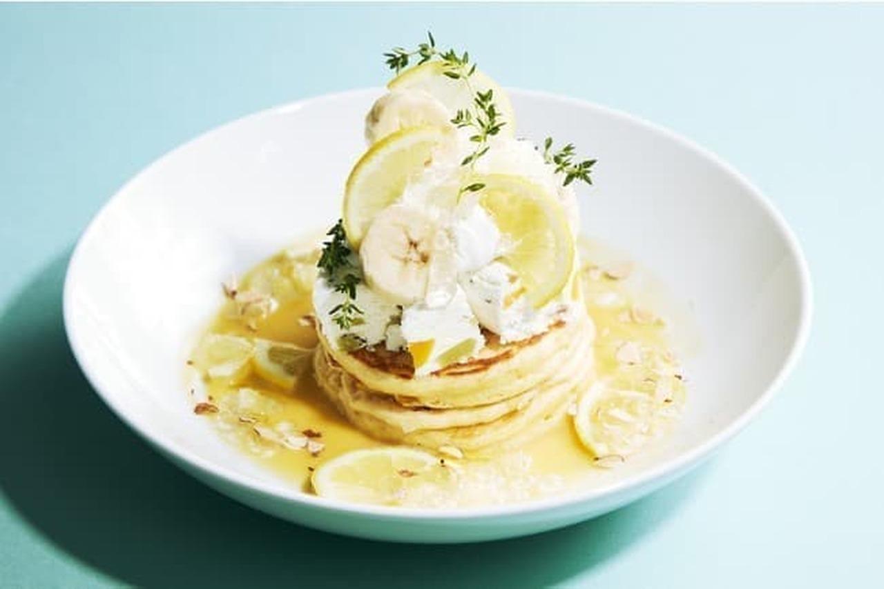 J.S パンケーキカフェ「レモンとサマーフルーツアイスのパンケーキ」