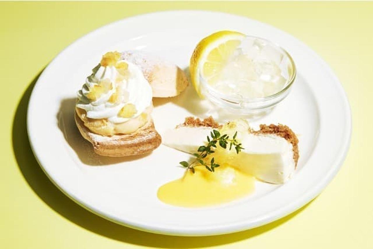 J.S パンケーキカフェ「レモンづくしのスイーツプレート」